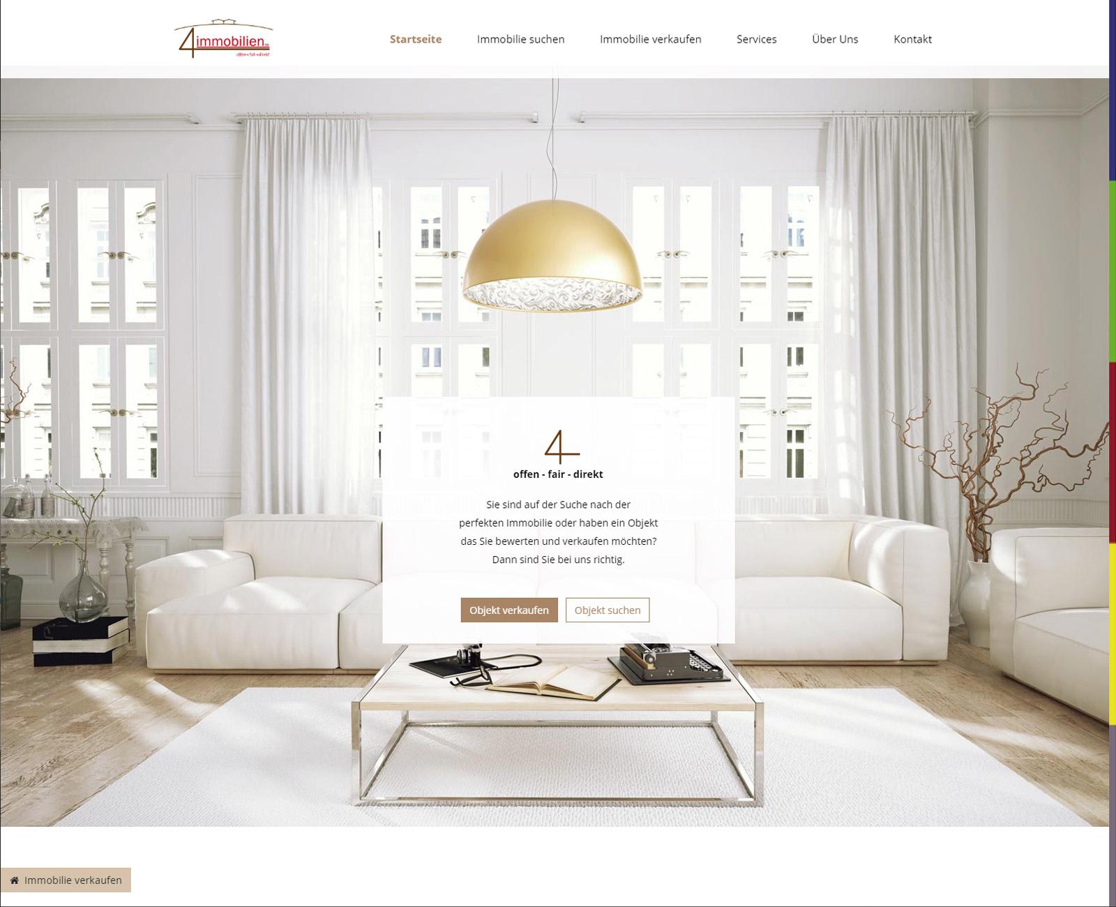4immobilien Website nach Redesign