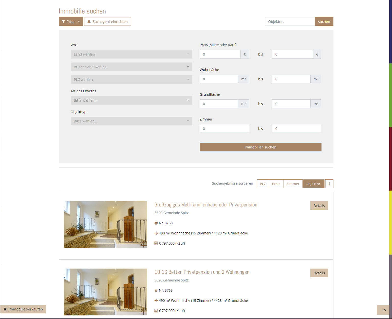 4immobilien Website nach Redesign
