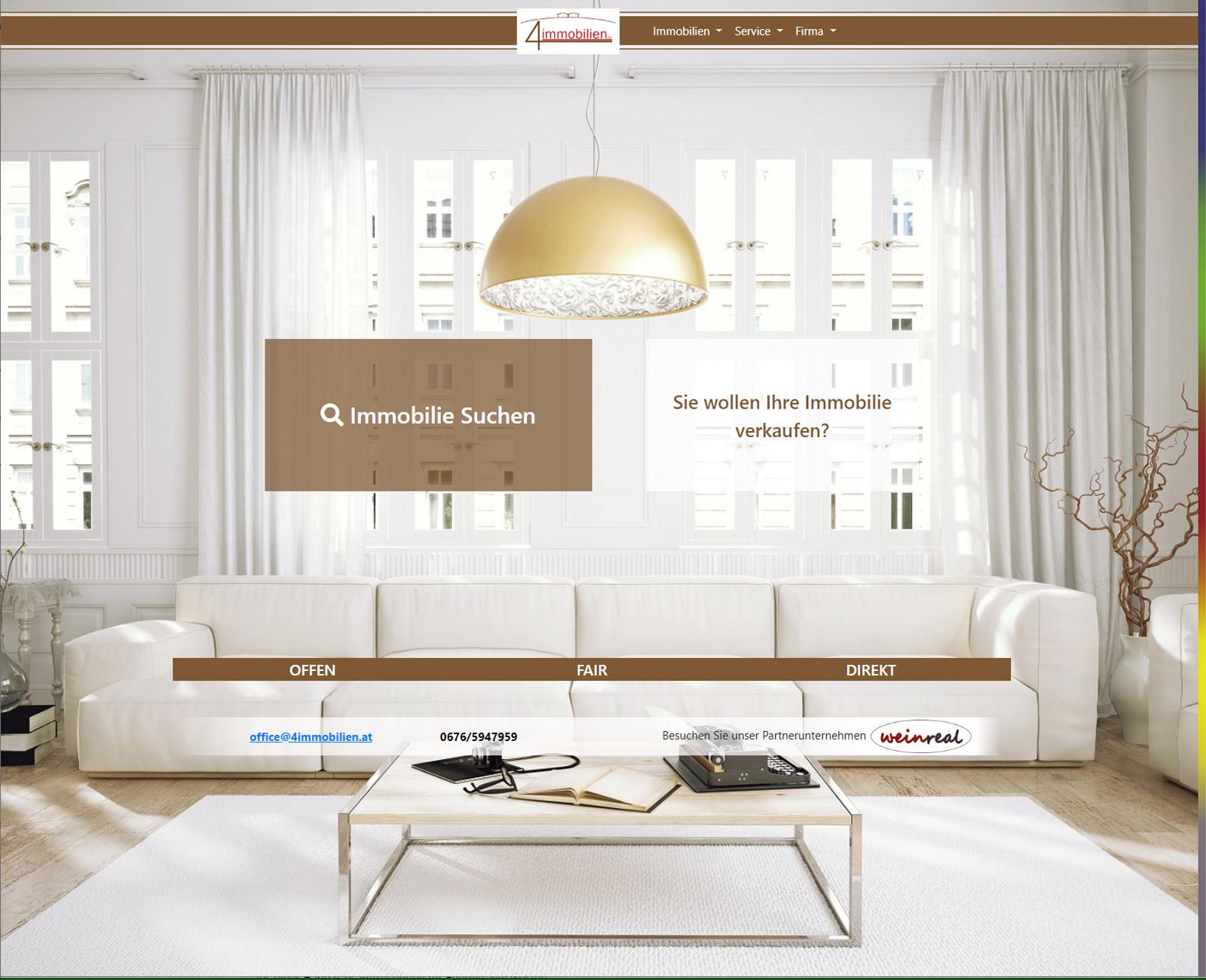 4immobilien Website vor Redesign