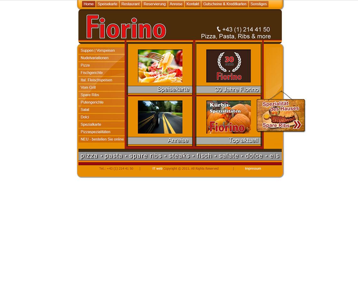 Fiorino Website vor Redesign